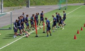Spillerne under trening 3. juni 2020.