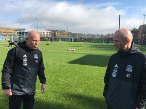 Frank Bredal og Knut Tørum har viktige oppgaver foran seg med å få Arendal tilbake på vinnersporet.