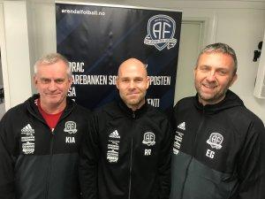 Kjell Inge Askeland, Roger Risholt og Eigil Gylland blir det nye trenerteamet for Arendals juniorlag i 2018.