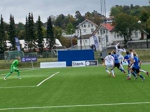 Preben Skeie i duell mot Kjelsås.