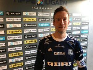 Petar Rnkovic avgjorde for Arendal i treningskampen mot Odd.