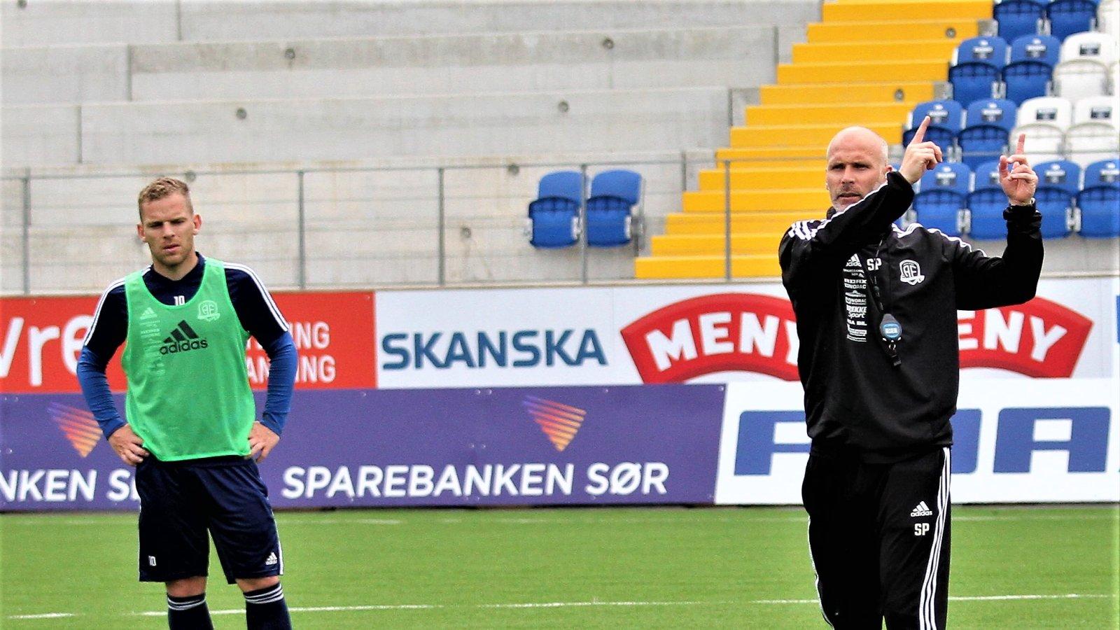 Steinar Pedersen foran møtet med Odd i cupen.