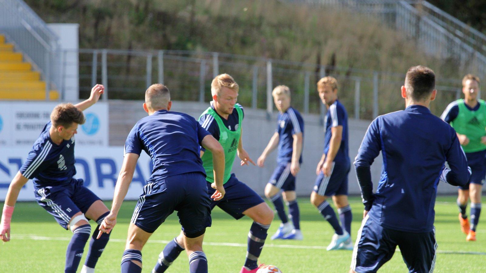 Fabian Stensrud Ness på trening 29. augsut 2019.