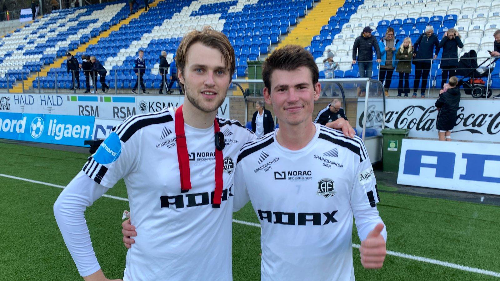 Kristian Strande og Preben Skeie var Arendals målscorere mot Notodden.