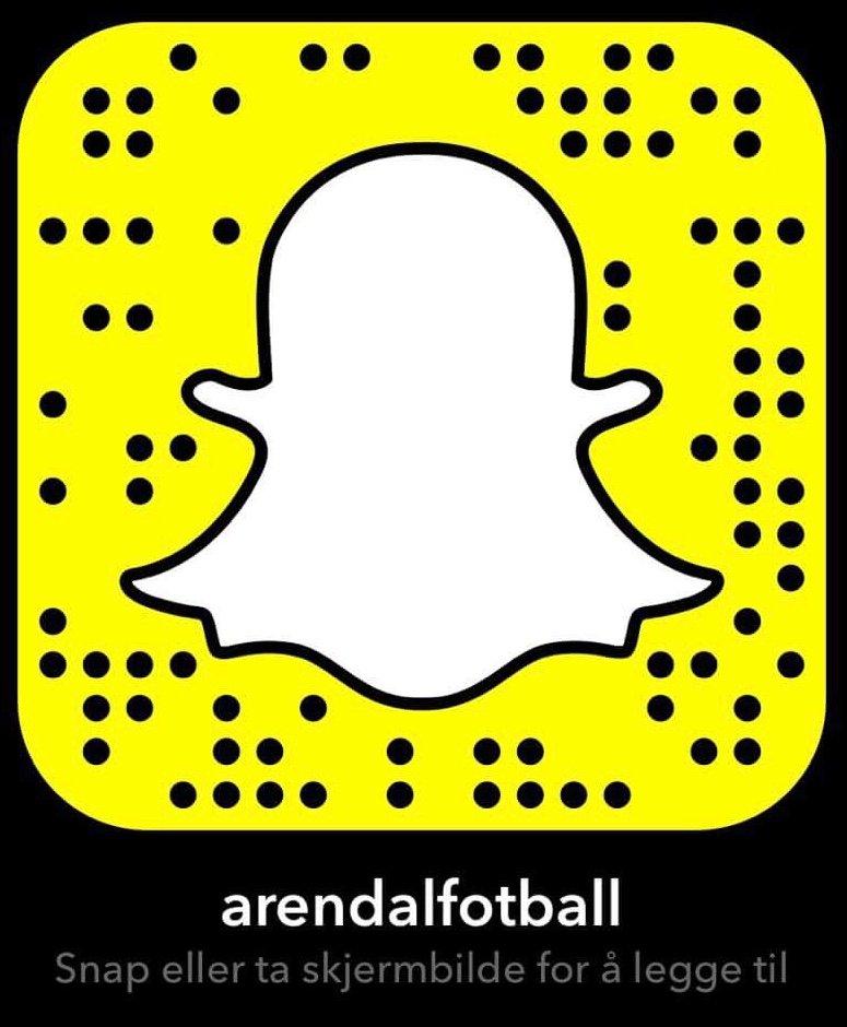 Følg Arendal Fotball på Snapchat