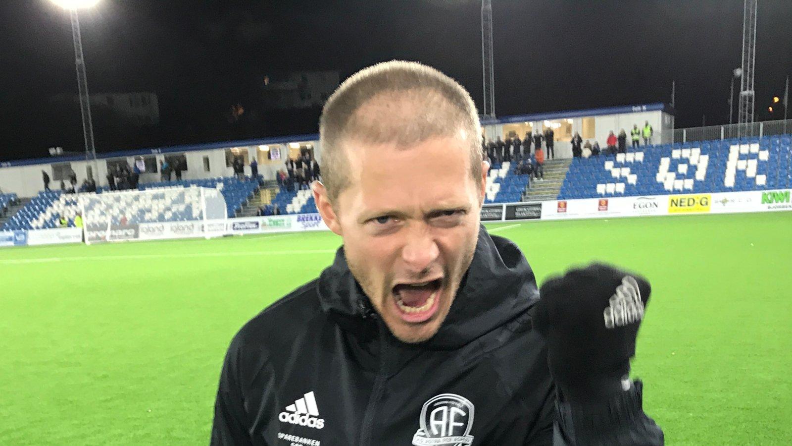 Mattias Andersson jublende glad!