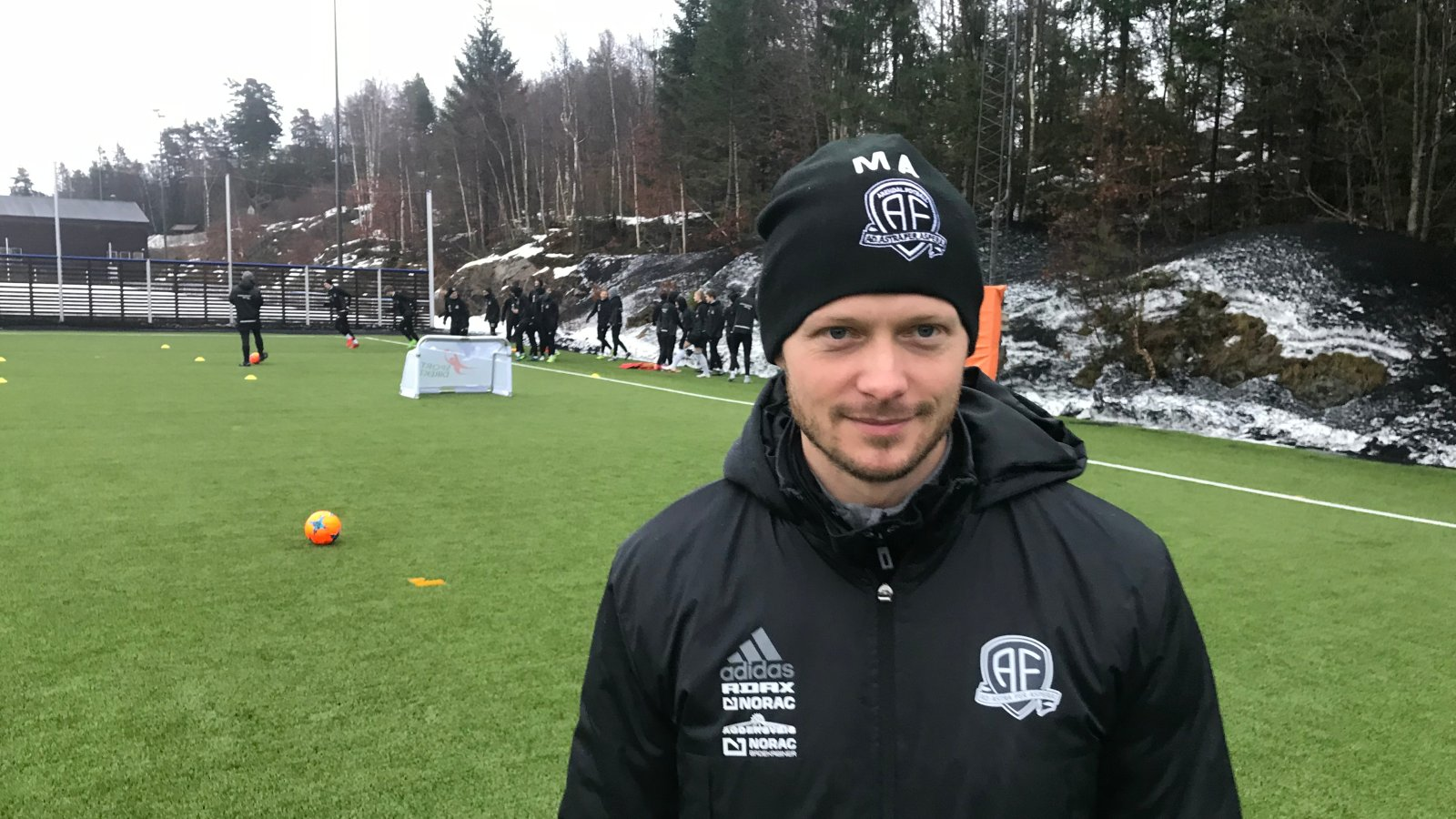 Mattias Andersson på treningsfeltet i januar 2018.
