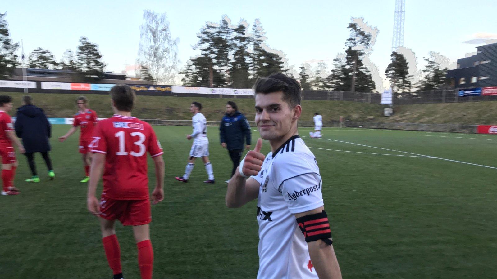 Ylldren Ibrahimaj vikarierte som kaptein mot FK Tønsberg i cupen. Han scoret to mål og var Arendals beste spiller.