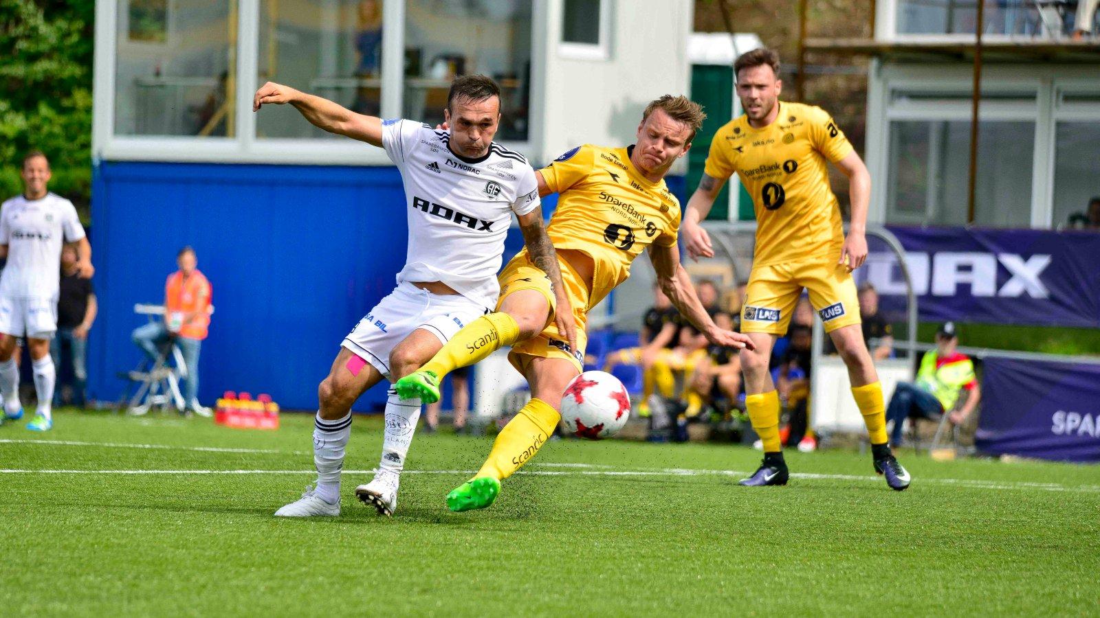 Wilhem Pepa kjempet tappert, men kom ikke på scoringslisten mot Bodø/Glimt.