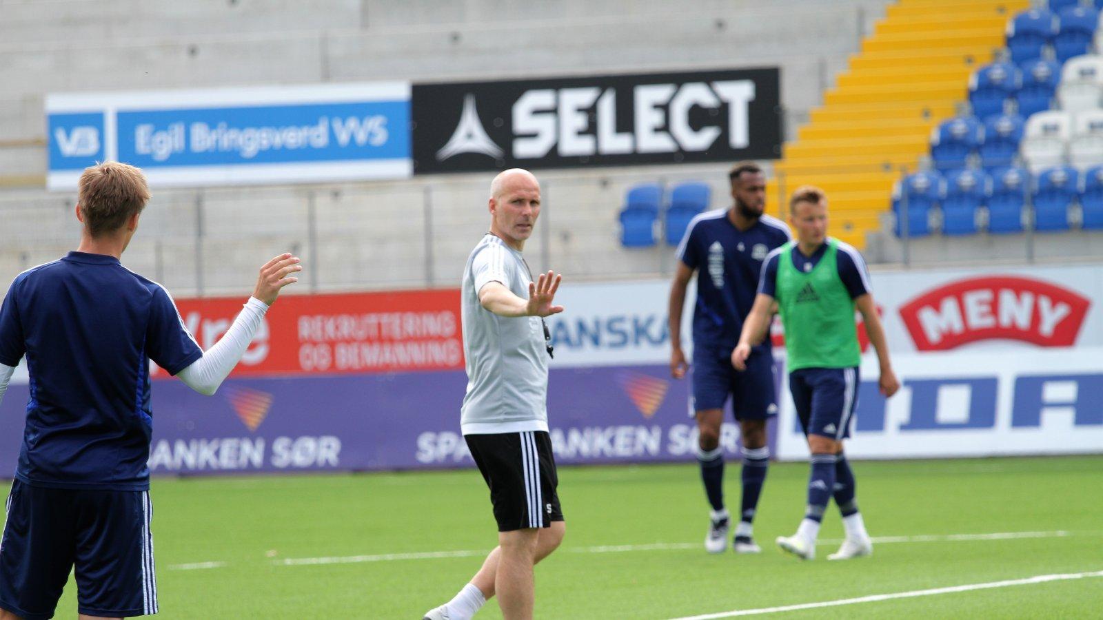 Steinar Pedersen på trening foran kampen mot Kvik Halden.