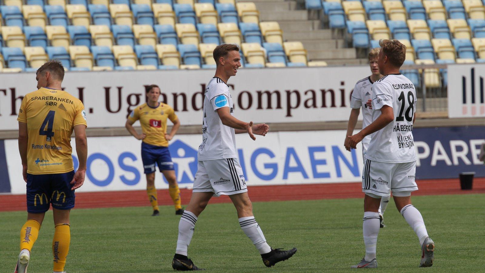 Kristian Eriksen og Markus Håbestad i treningskamp mot Jerv 27.06.20