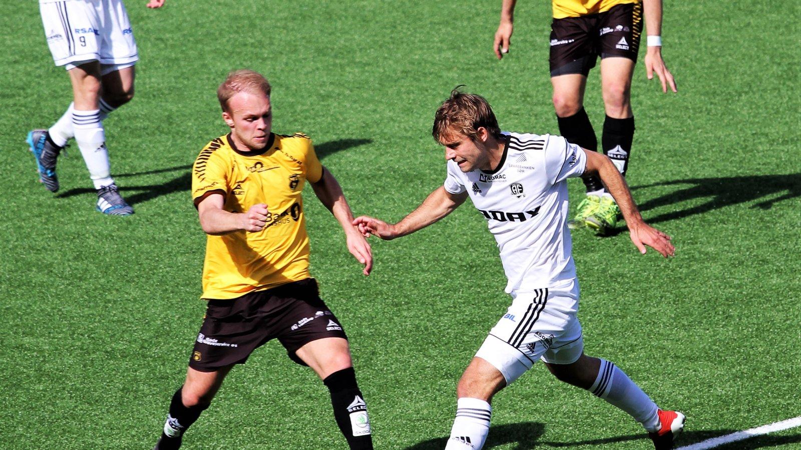 Mads Madsen i aksjon mot Moss.