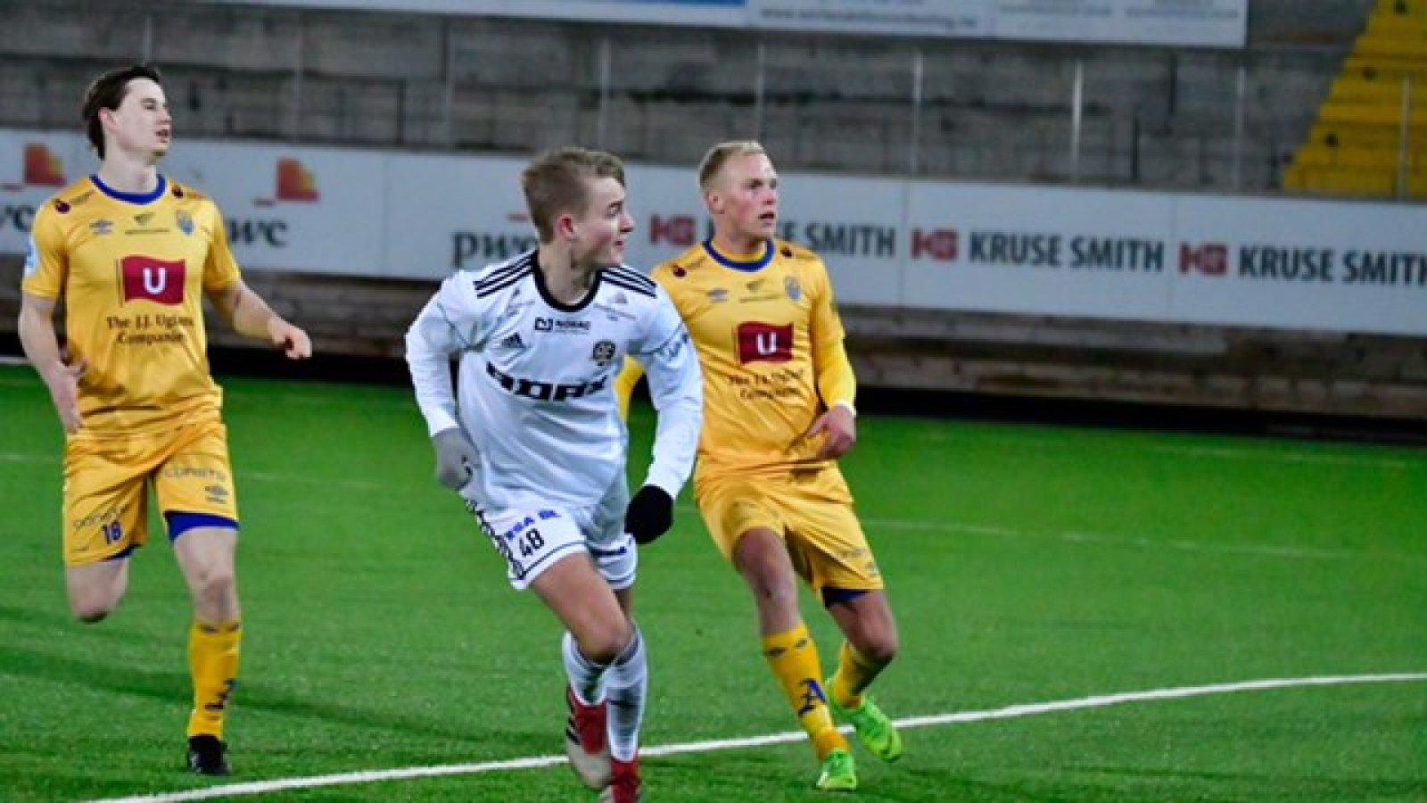 Matias Gløckner ble matchvinner i treningskampen mot Jerv.
