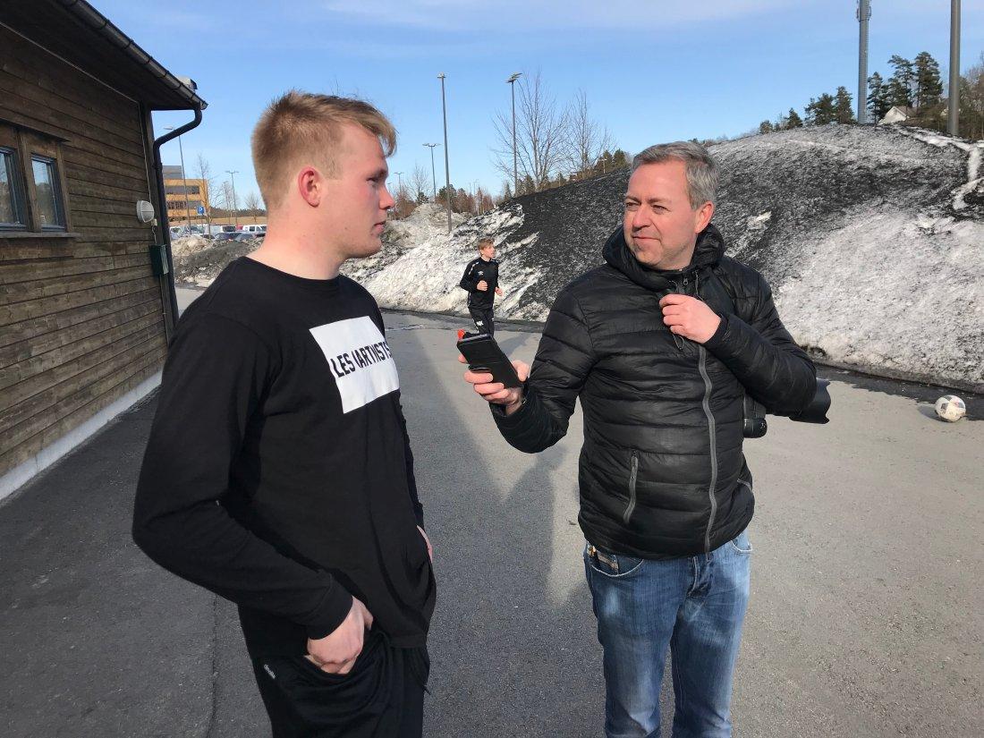 Fabian Ness i intervju med Agderposten.