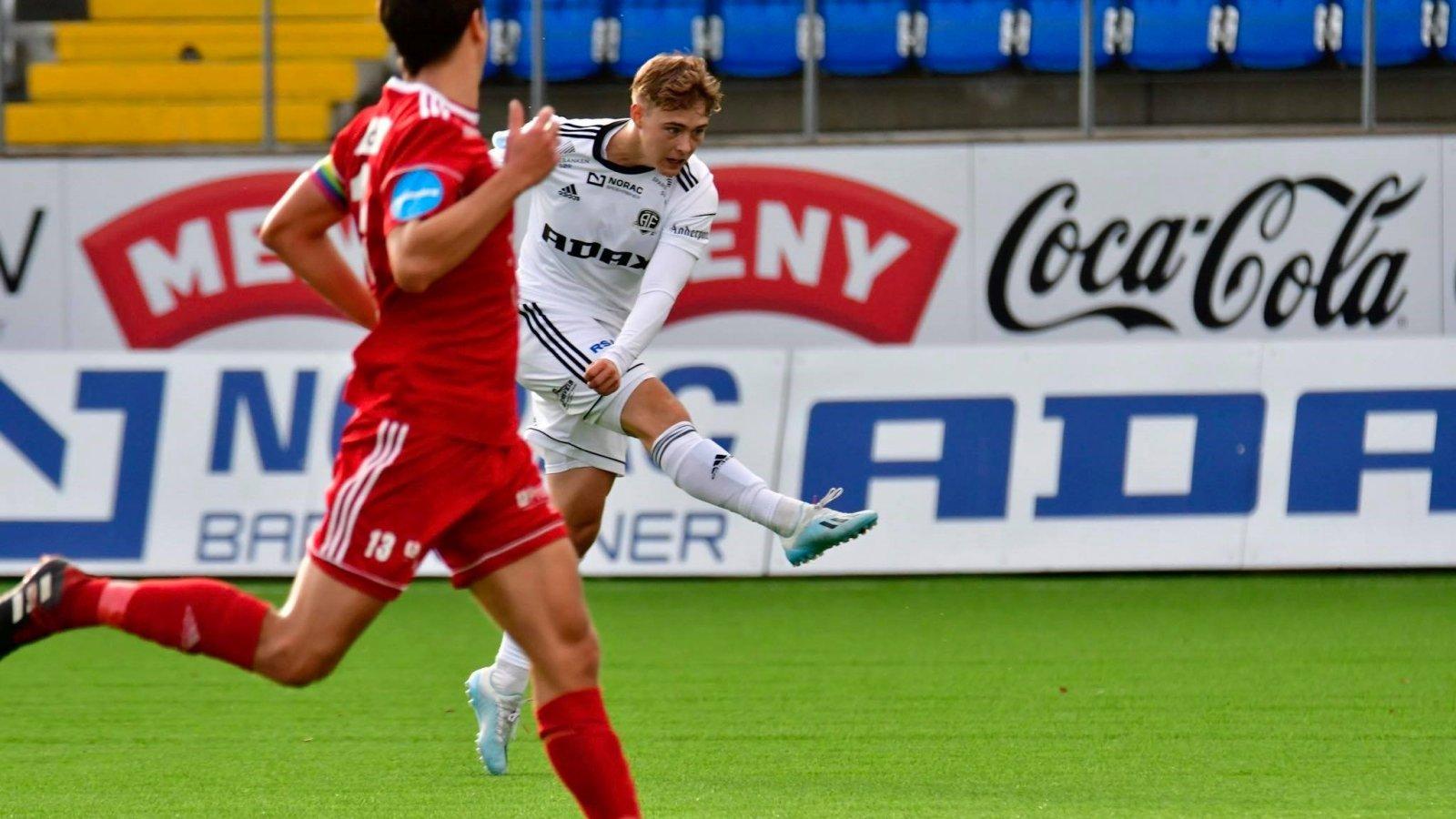 Magnus Nørby Madsen i debuten mot Vidar 19. oktober 2019.