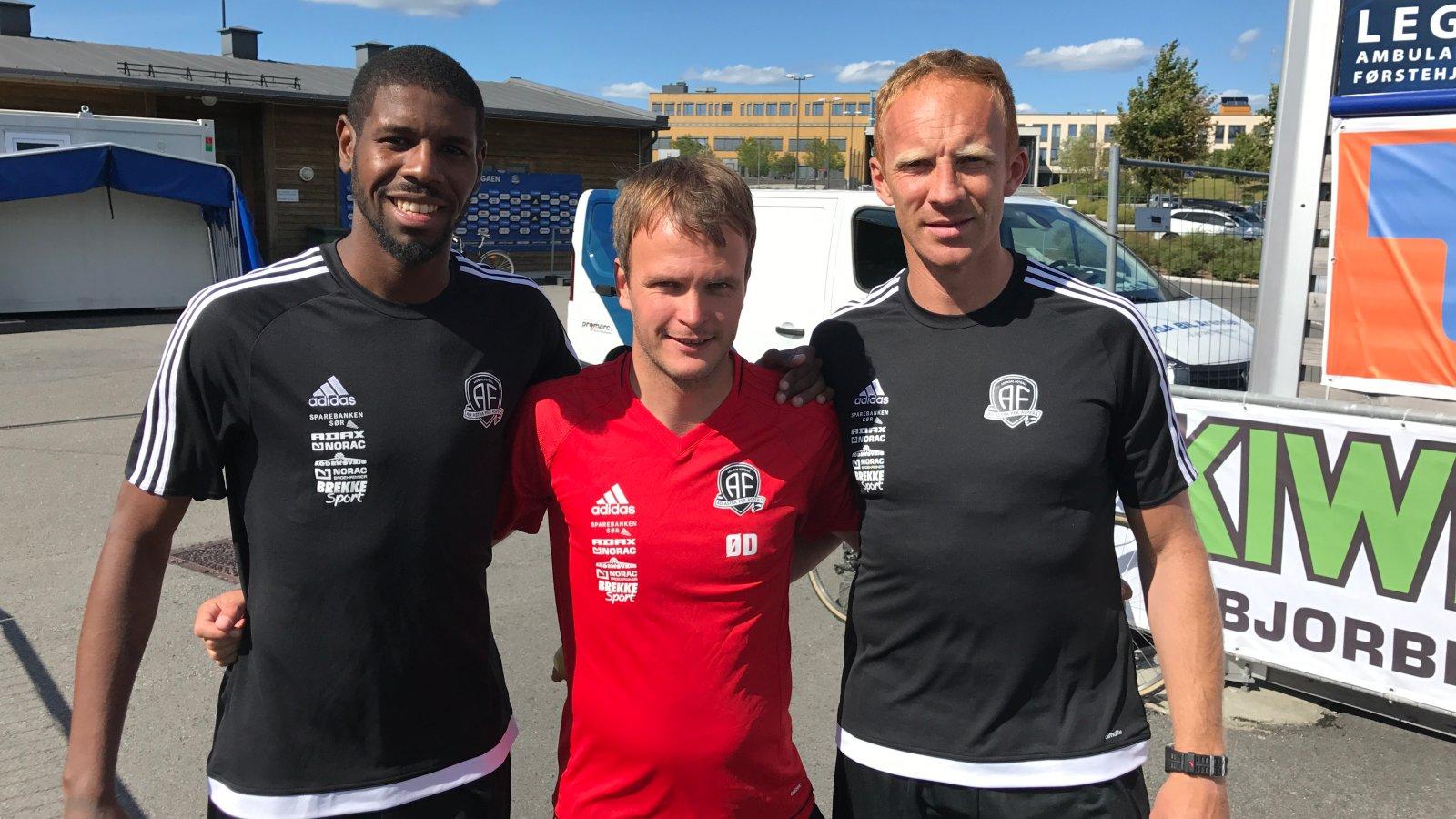 Darlan, Øyvind Dahlseth og Peter Kovacs var for første gang samlet sammen med resten av Arendal-troppen da treningene startet opp igjen torsdag ettermiddag.