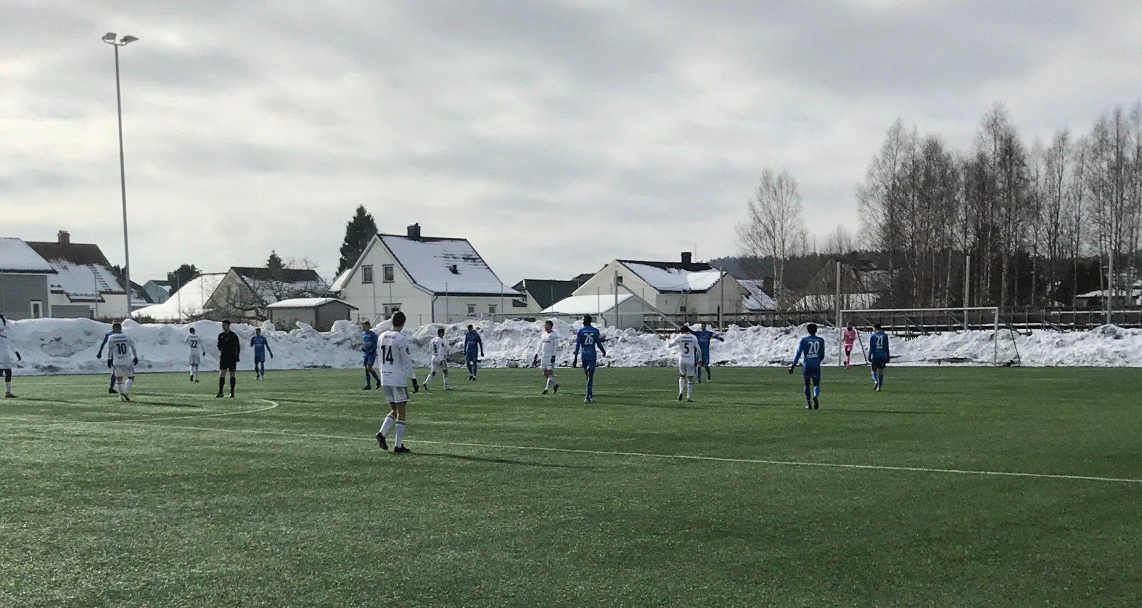 Treningskampen mot Notodden ble spilt på Pors stadion.