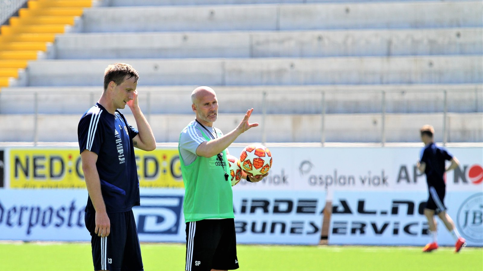 Sune Kiilerich og Steinar Pedersen på trening 27. juni.