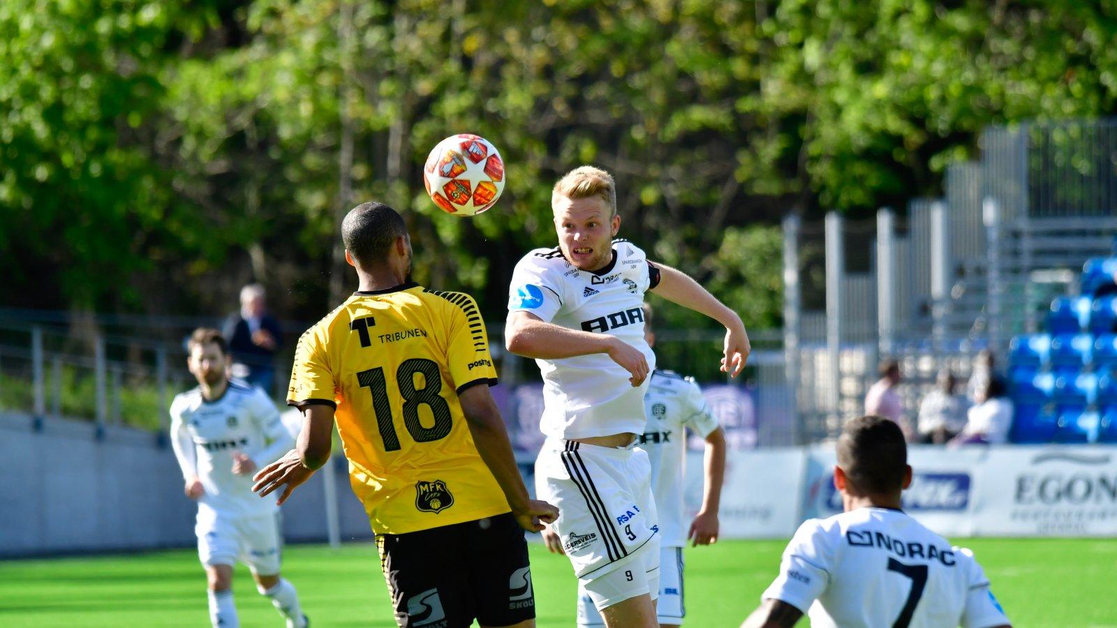 Fabian Stensrud Ness la ned en fantastisk innsats og ble også belønnet med en scoring mot sin tidligere klubb. FOTO: Alf Joachim Altenborg