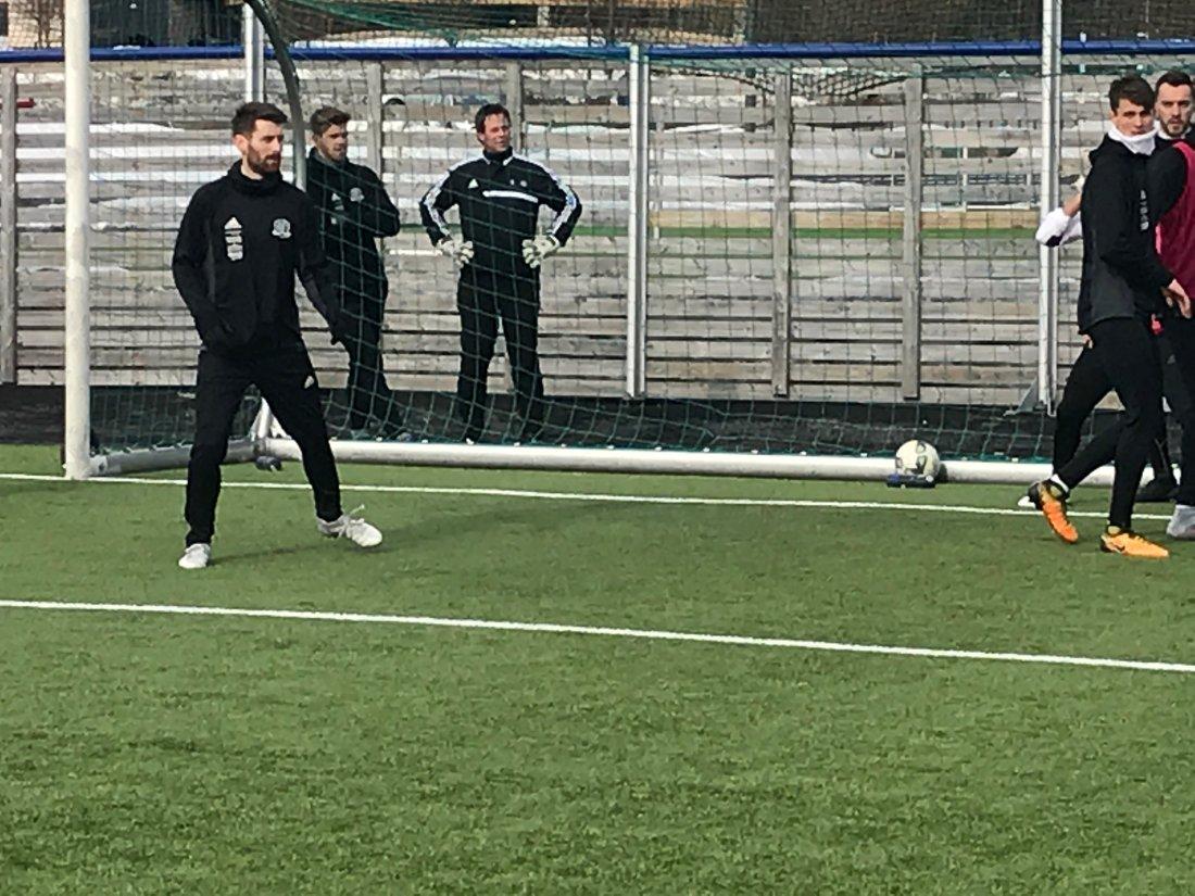 Jens Kristian Skogmo på trening, april 2018.