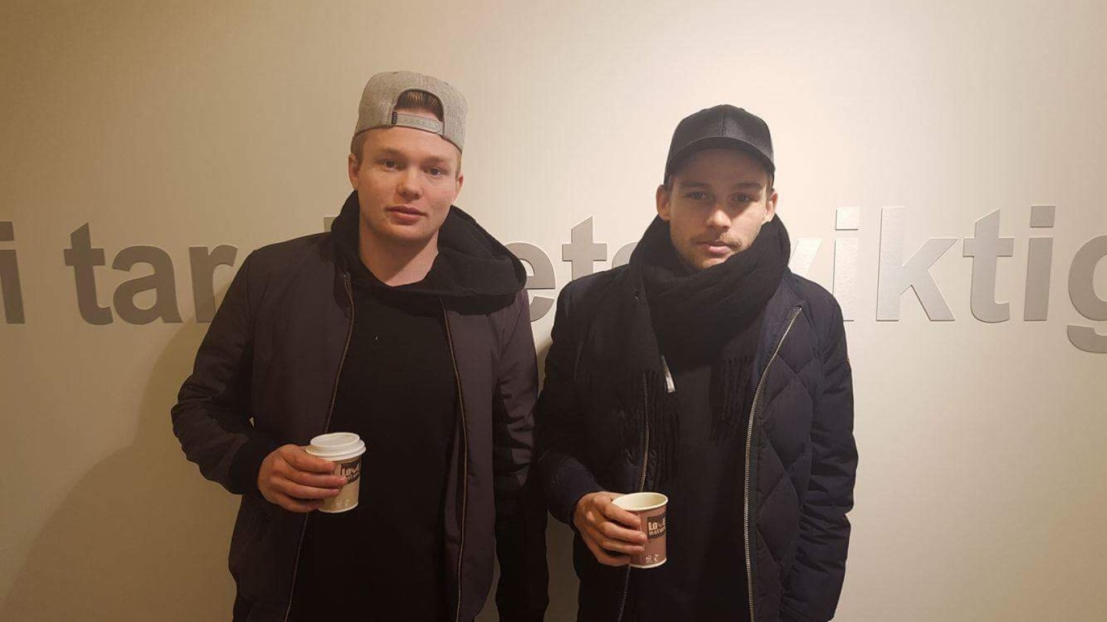 Fabian Stensrud Ness (til venstre) og Rasmus Lynge Christensen var sammen på MR-undersøkelse torsdag.