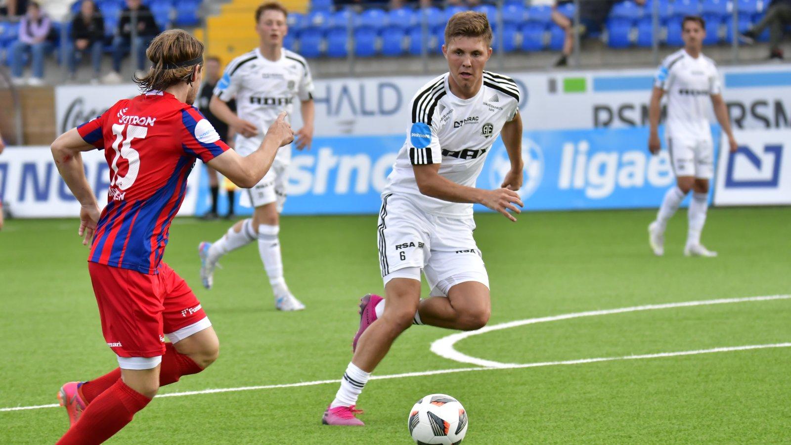 Andreas van der Spa mot Fram Larvik 8. juli 2021.