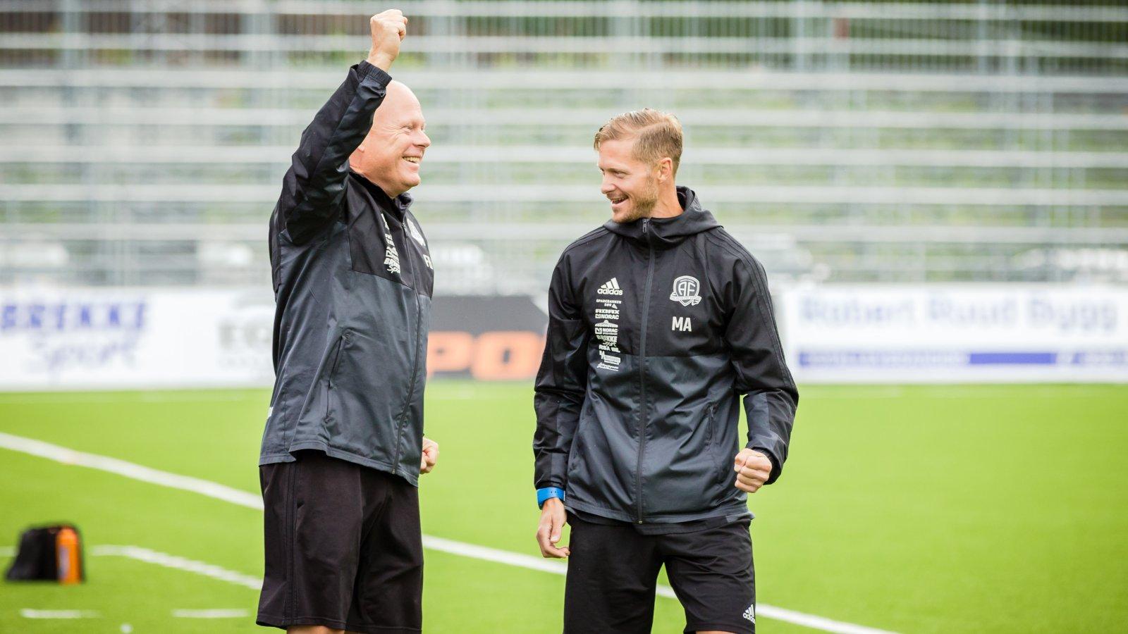 Frank Bredal og Mattias Andersson.