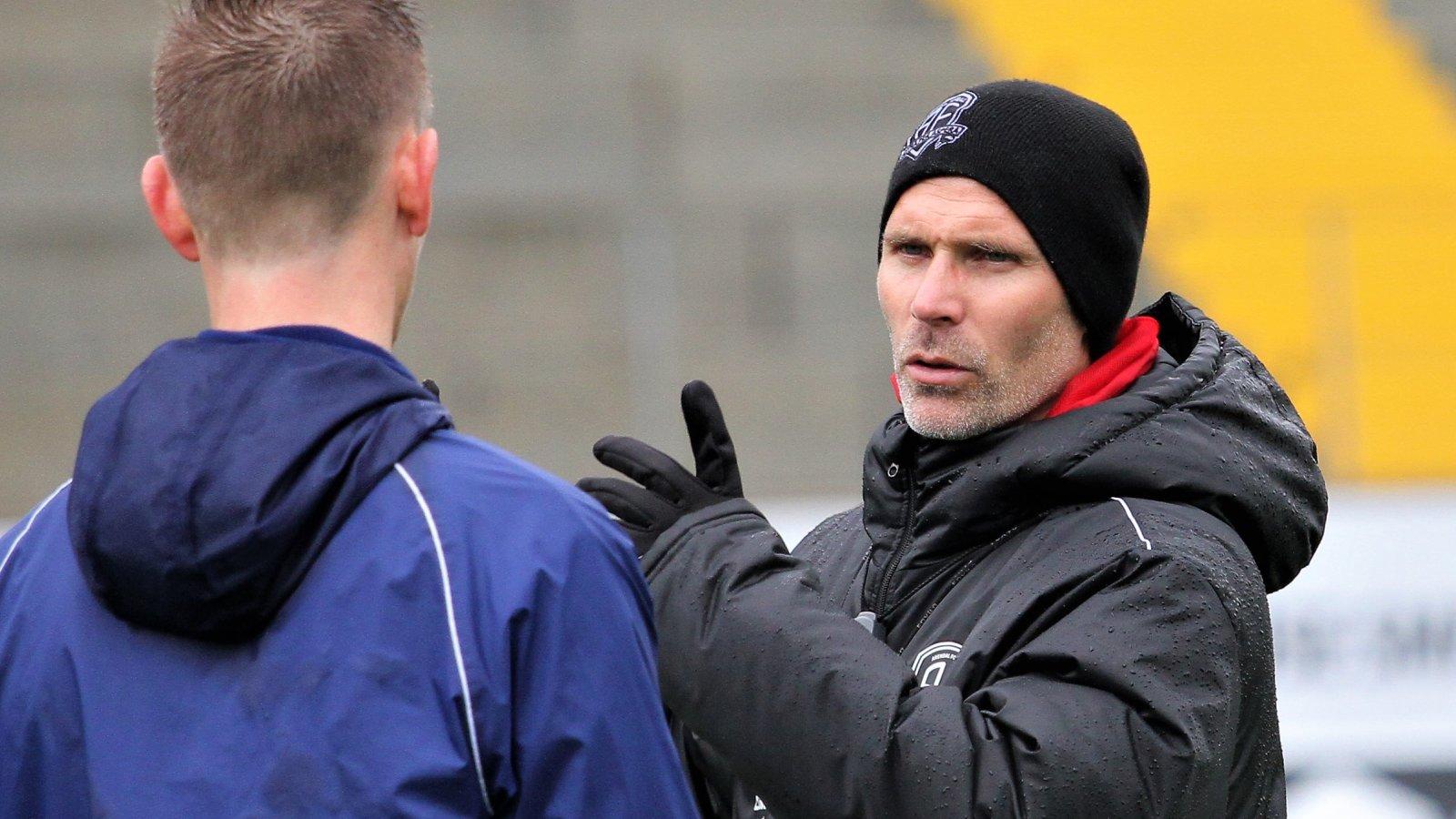 Steinar Pedersen på trening for kampen mot Moss.